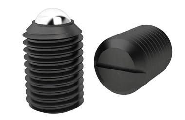 Ball Spring Plungers - Threaded - Chemical black finish (WDS 606)