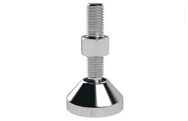 Levelling Feet - Steel Nickel Plated with 40mm Mild Steel Base (WDS 778)