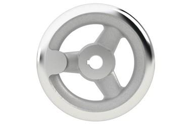 Aluminium Handwheel with Turned Rim - Keywayed Bore (WDS 8179)