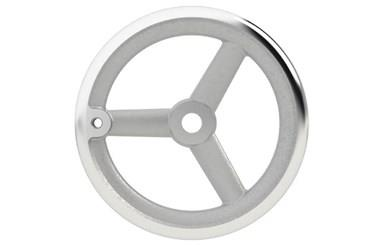 Aluminium Handwheel with Turned Rim - Round Hole Tapped for Grip (WDS 8179)