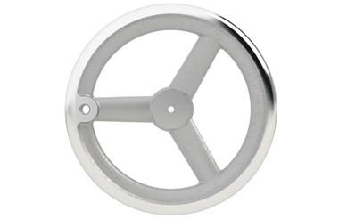Aluminium Handwheel with Turned Rim - Pilot Bore Tapped for Grip (WDS 8179)