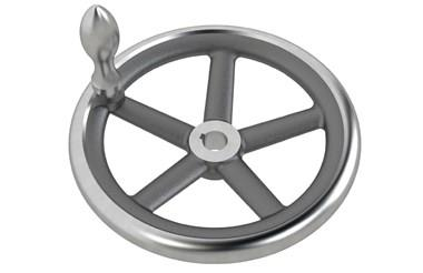 Cast Iron Hand Wheel - Keywayed with Revolving Grip (WDS 8193)