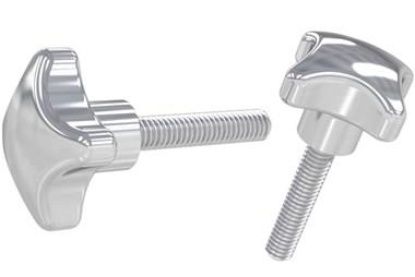 Hand Knob with Male Thread - 316 Stainless Steel Polished (WDS 8205)
