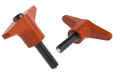 Index Clamping T Handle with Nylon Tip - Pure Orange (WDS 8244)