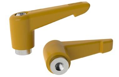 Clamping Handle Indexing with Stainless Insert - Cadmium Yellow (WDS 8320)