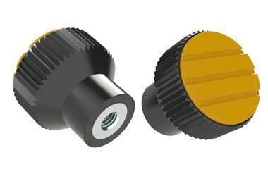 Knurled Knob - Cadmium Yellow - Thermoplastic with Steel Insert (WDS 8440)