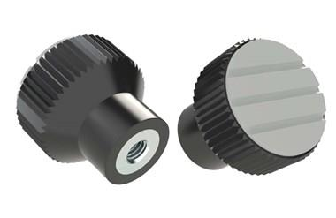 Knurled Knob - Pale Grey - Thermoplastic with Steel Insert (WDS 8440)