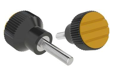 Knurled Knob - Cadmium Yellow - Thermoplastic with Stainless Steel Screw (WDS 8440)