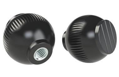 Grip Ball - Black Grey - Thermoplastic With Steel Insert (WDS 8470)