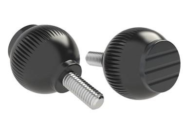 Grip Ball - Black  Grey - Thermoplastic With 303 Stainless Steel Screw (WDS 8470)