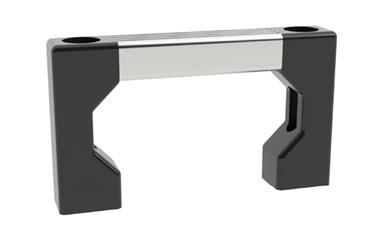 Bridge Handle - Front Mounted - Silver (WDS 8516)
