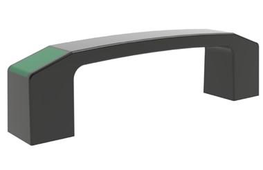 Bridge Handle with Signal Green RAL 6032 Coloured Caps (WDS 8535)
