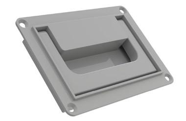 Collapsible Tray Handle with Snap Lock - Grey (WDS 8539)