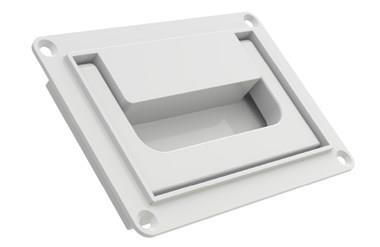 Collapsible Tray Handle with Pull Back Spring - White (WDS 8539)