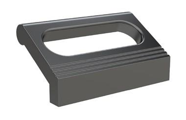 Ledge Handle - Slotted - Black - Rear Mounting (WDS 8540)