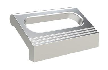 Ledge Handle - Slotted - Silver - Rear Mounting (WDS 8540)