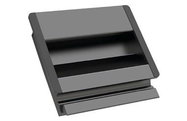 Aluminium Tray Handle with Rubber Inserts - Anodised Black (WDS 8557)