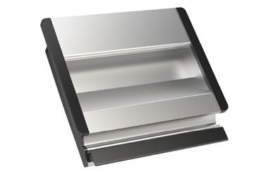 Aluminium Tray Handle with Rubber Inserts - Anodised Natural (WDS 8557)
