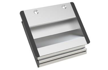 Aluminium Tray Handle with Screw Mounting - Anodised Natural (WDS 8557)