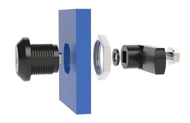 Quarter Turn Latch Kit - Polyamide (Plastic) Cylinder with Cam Square Type (WDS 8562)