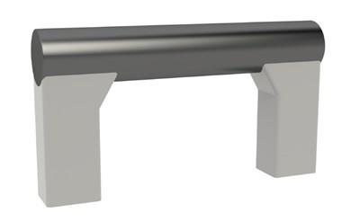 Black Aluminium Tube Handle with Grey Legs (WDS 8595)