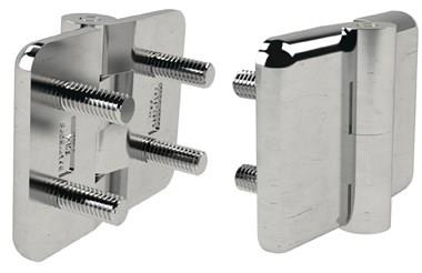 316 Stainless Steel Stud Fitting Hinges - Polished Finish (WDS 8605)