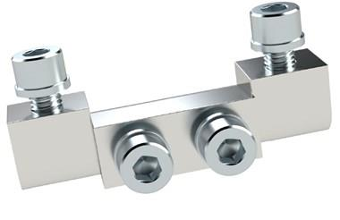 Exposed Corner Hinges - Brass Chrome Plated (WDS 8623)
