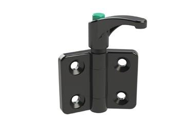 Plastic Polyamide Locking Lever Hinges - Signal Green Button (WDS 8647)