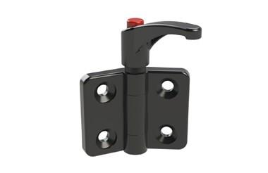 Plastic Polyamide Locking Lever Hinges - Traffic Red Button (WDS 8647)