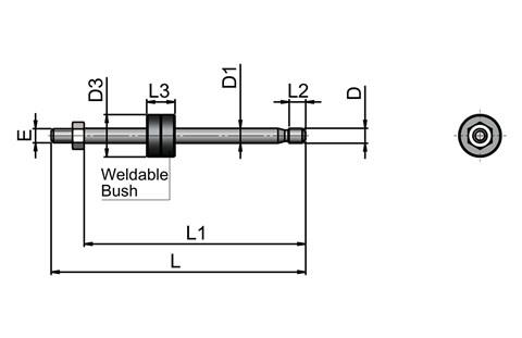 Clamping Pin (Captive) No Bush No Handle - Metric (WDS 165)