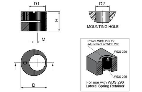 Eccentric Bush for Lateral Spring Retainer (WDS 295)