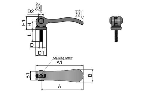 Cam Lever (Cam Clamp) - Adjustable 304 Stainless Steel with Stainless Screw (WDS 362)
