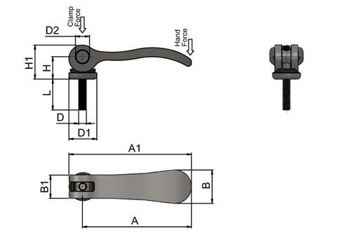 Cam Lever (Cam Clamp) - 304 Stainless Steel with Stainless Screw (WDS 364)