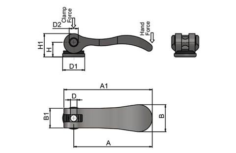 Cam Lever (Cam Clamp) - 304 Stainless Steel (WDS 366)