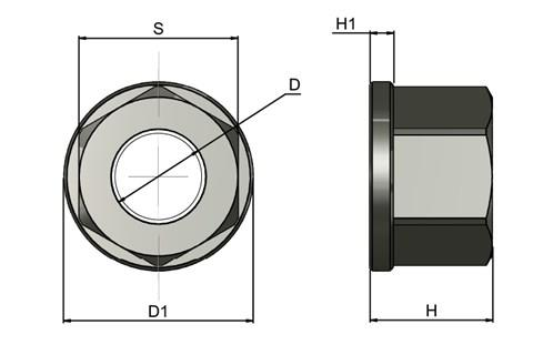 Collar Nut - Steel - Imperial BSF or BSW or UNC (WDS 404)