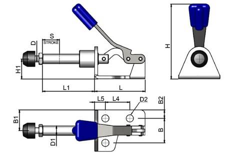 Push/Pull Toggle Clamp - Light Duty (WDS 4085)