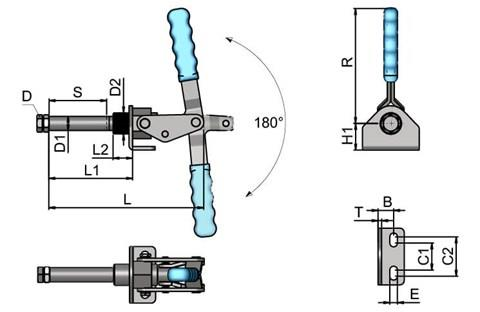 Push/Pull Toggle Clamp - Heavy Duty (WDS 4091)