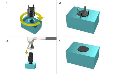 Fitting Tool for Heavy Duty Threaded Inserts - UNC Inch (WDS 415)