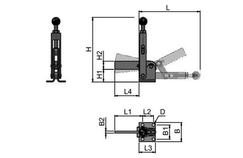 High Speed Adjustable Toggle Clamp (WDS 4151)