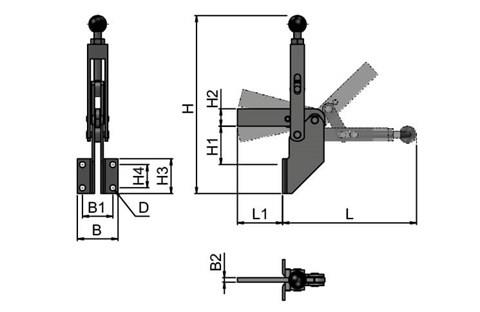 High Speed Adjustable Toggle Clamp (WDS 4153)