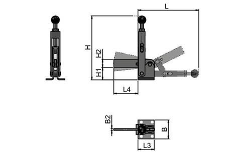 High Speed Adjustable Toggle Clamp - Heavy Duty (WDS 4154)