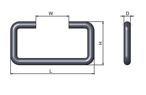 Case Fitting Handle - Steel Zinc Plated (WDS 4211)