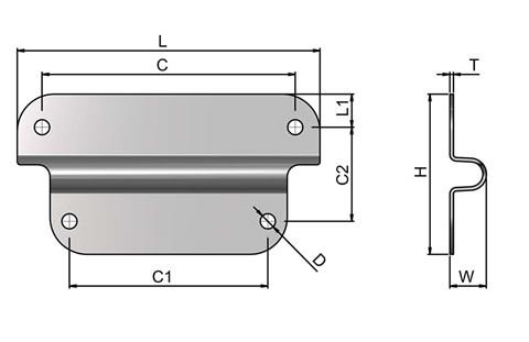 Case Fitting Bracket - Steel Zinc Plated (WDS 4212)