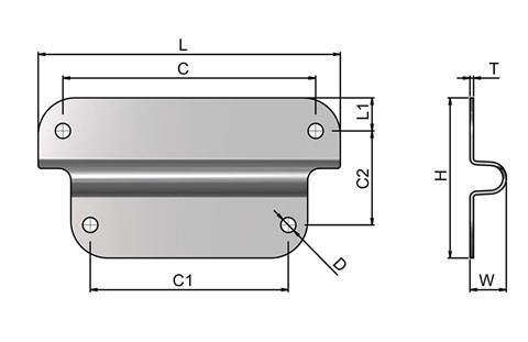 Case Fitting Bracket - Stainless Steel (WDS 4212)