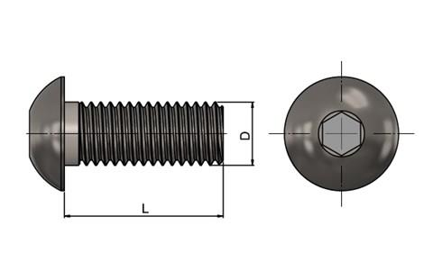 Socket Dome Screws - Steel (WDS 422)