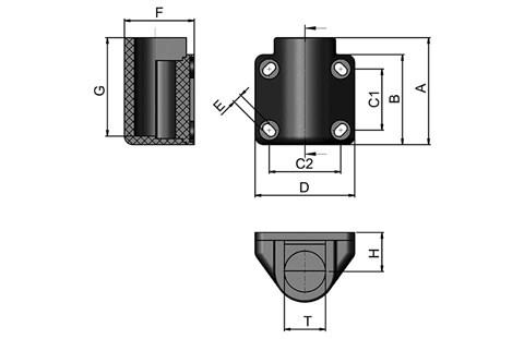 Side-Mounting Top Bracket with Parallel Fixing Holes (WDS 433)