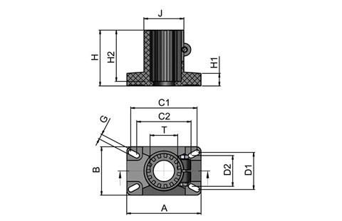 Rectangle Support Head (WDS 434)