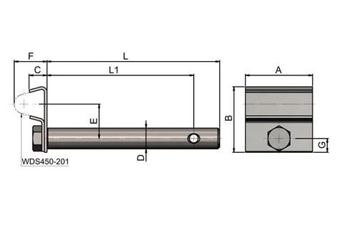 Single Cone Clamp - Stainless Steel with Rod (WDS 435)