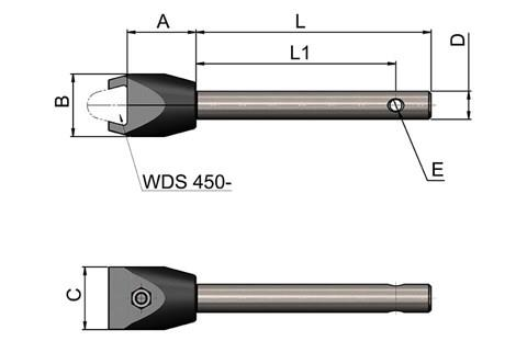 Single Cone Clamp With Rod (WDS 435)