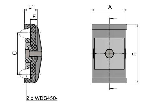 Double Cone Guide Rails Clamp - No Rod (WDS 436)